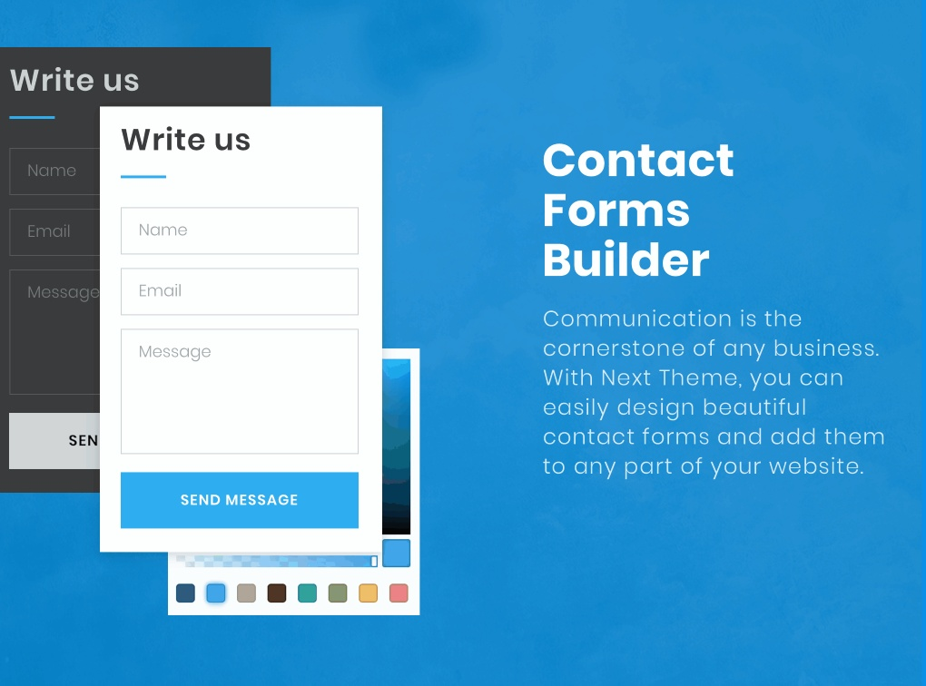 Contact forms builder.