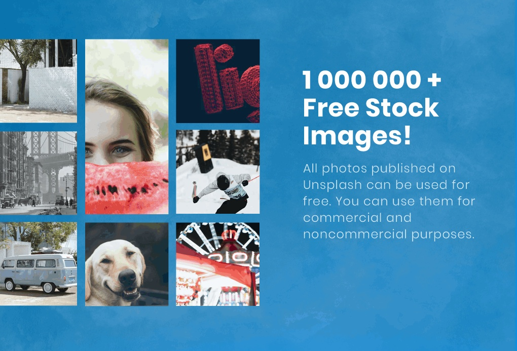 Over 1 000 000 of free stock images from Unsplash.
