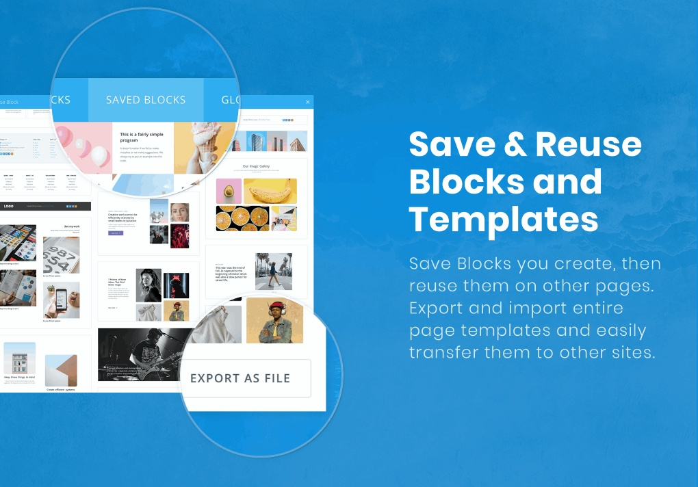 Save and reuse content blocks and templates.
