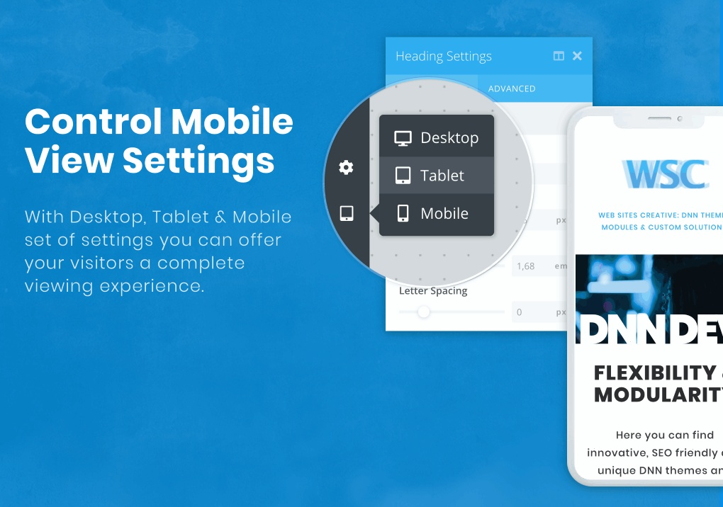 Control page look on different devices independently.